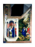 The Presentation at the Temple and the Flight into Egypt, 1394-1399 Giclee Print by Melchior Broederlam