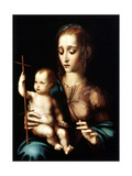 Madonna and Child with a Cross-Shaped Distaff, 1570S Giclee Print by Luis De morales