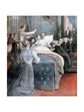 The Death of the Comte De Paris, England, 1894 Giclee Print by Lionel Noel Royer