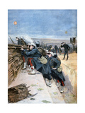 French Soldiers on Trench Warfare Manoeuvres, 1894 Giclee Print by Lionel Noel Royer