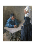 The Engagement of the Maidservant, C1864-1900 Giclee Print by Mihaly Munkacsy