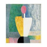 Torso (Figure with Pink Fac), 1928-1932 Giclée-trykk av Kazimir Malevich