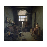 The Workshop of David, 1814 Giclee Print by Leon Mathieu Cochereau