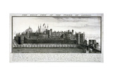 West View of the Tower of London, with a Description, 1737 Giclee Print by Nathaniel Buck
