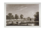 View of the Serpentine and Hyde Park, London, 1814 Giclee Print by Matthew Dubourg