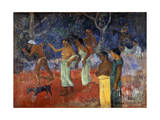 Scene from Tahitian Life, 1896 Giclee Print by Paul Gauguin