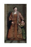 Portrait of Countess Livia Da Porto Thiene and Her Daughter, C1551 Giclee Print by Paolo Veronese