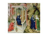 Annunciation and Visitation, 1394-1399 Giclee Print by Melchior Broederlam