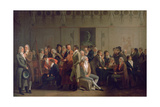 Reunion of Artists in the Studio of Isabey, 1798 Giclee Print by Louis Leopold Boilly