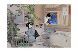 The Entrance to the Tea Rooms, C1886-1908 Giclee Print by Mizuno Toshikata