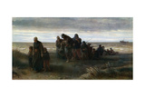 Fishermen Carrying a Drowned Man, C1861 Giclee Print by Jozef Israels