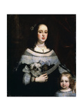 Portrait of a Lady and a Little Girl, C1660 Giclee Print by Justus Sustermans