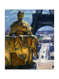 The Eiffel Tower, 1900 Giclee Print by Louis Welden Hawkins