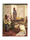 Sunflowers and Hollyhocks, 1889 Giclee Print by Kate Hayllar