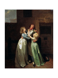 A Mournful Parting, 1780S Giclee Print by Louis Leopold Boilly