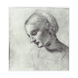 The Head of a Madonna, C1484-1486 Giclee Print by  Leonardo da Vinci