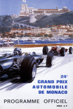 The Official Programme for the 24th Monaco Grand Prix, 1966 Giclée-Druck von Michael Turner