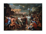 The Adoration of the Golden Calf, C1635 Giclee Print by Nicolas Poussin
