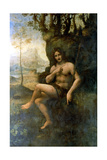 John the Baptist, with the Attributes of Bacchus, 1513-1516 Giclee Print by  Leonardo da Vinci