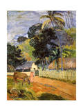 Horse on Road, Tahitian Landscape, 1899 Giclee Print by Paul Gauguin