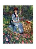 Dans Les Roses, 1882 Giclee Print by Pierre-Auguste Renoir
