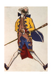 Battista, Costume Design for a Comedy by Carol Goldoni, 1917 Giclee Print by Leon Bakst
