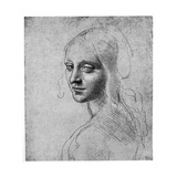 Study of a Girl's Head, C1483 Giclee Print by  Leonardo da Vinci
