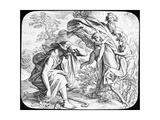 Moses and the Burning Bush, 19th Century Giclee Print by Julius Schnorr von Carolsfeld