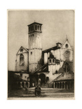 The Church of San Francesco, Assisi, Italy, 1926 Giclee Print by Louis Wherter