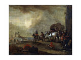 Travellers on the Way, 17th Century Giclee Print by Philips Wouwerman