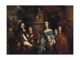 Sir Edward Hales and His Family, 1656 Giclee Print by Peter Lely
