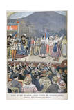 Festivity Popular with Paul Deschanel, President of France, 1900 Giclee Print by Oswaldo Tofani