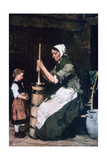 Woman at the Churn, C1864-1900 Giclee Print by Mihaly Munkacsy