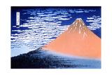 Red Fuji, 1823-1831 Giclée-Druck von Katsushika Hokusai