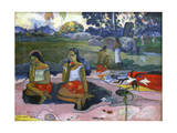 Sacred Spring: Sweet Dreams (Nave Nave Mo), 1894 Giclee Print by Paul Gauguin