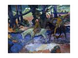 The Ford (The Fligh), 1901 Giclée-tryk af Paul Gauguin