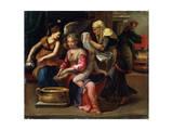 The Child's Bath, 16th Century Gicleetryck av Parmigianino,