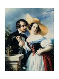Flirt, 1841 Giclee Print by Miklos Barabas