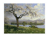 Bavarian Landscape in Spring, Philipp Graf, 20th Century Giclee Print by Philipp Graf