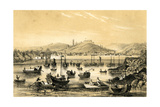 Ningbo, One of the Five Ports Opened by the Late Treaty to British Commerce, China, 1847 Giclee Print by JW Giles