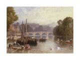 Richmond Bridge, 19th Century Giclee Print by Myles Birket Foster