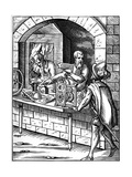 Clockmaker, 16th Century Giclee Print by Jost Amman