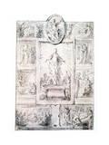 Composition Sketch, C1513-1540 Gicleetryck av Parmigianino,