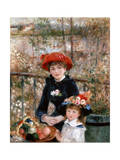Two Sisters (On the Terrac), 1881 Giclee Print by Pierre-Auguste Renoir