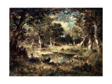 Forest Swamp, 1870 Giclee Print by Narcisse Virgile Diaz de la Pena
