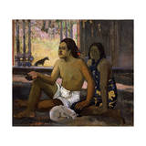 Eiaha Ohipa (Not Working. Tahitians in a Roo), 1896 Giclee Print by Paul Gauguin