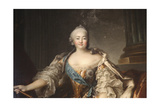 Portrait of the Empress Elizabeth Petrovna, 1758 Giclee Print by Louis Tocque