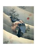 Duck Swimming in Water, 1847 Giclée-Druck von Katsushika Hokusai