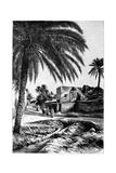 A Street in Biskra, Algeria, 1895 Giclée-tryk af  Meunier