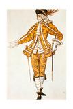 Page De La Fee Des Canaris, Costume Design for Tchaikovsky's Ballet Sleeping Beauty, 1921 Giclee Print by Leon Bakst